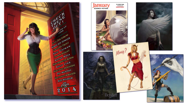 2014 Literary Pin-up Calendar by Lee Moyer