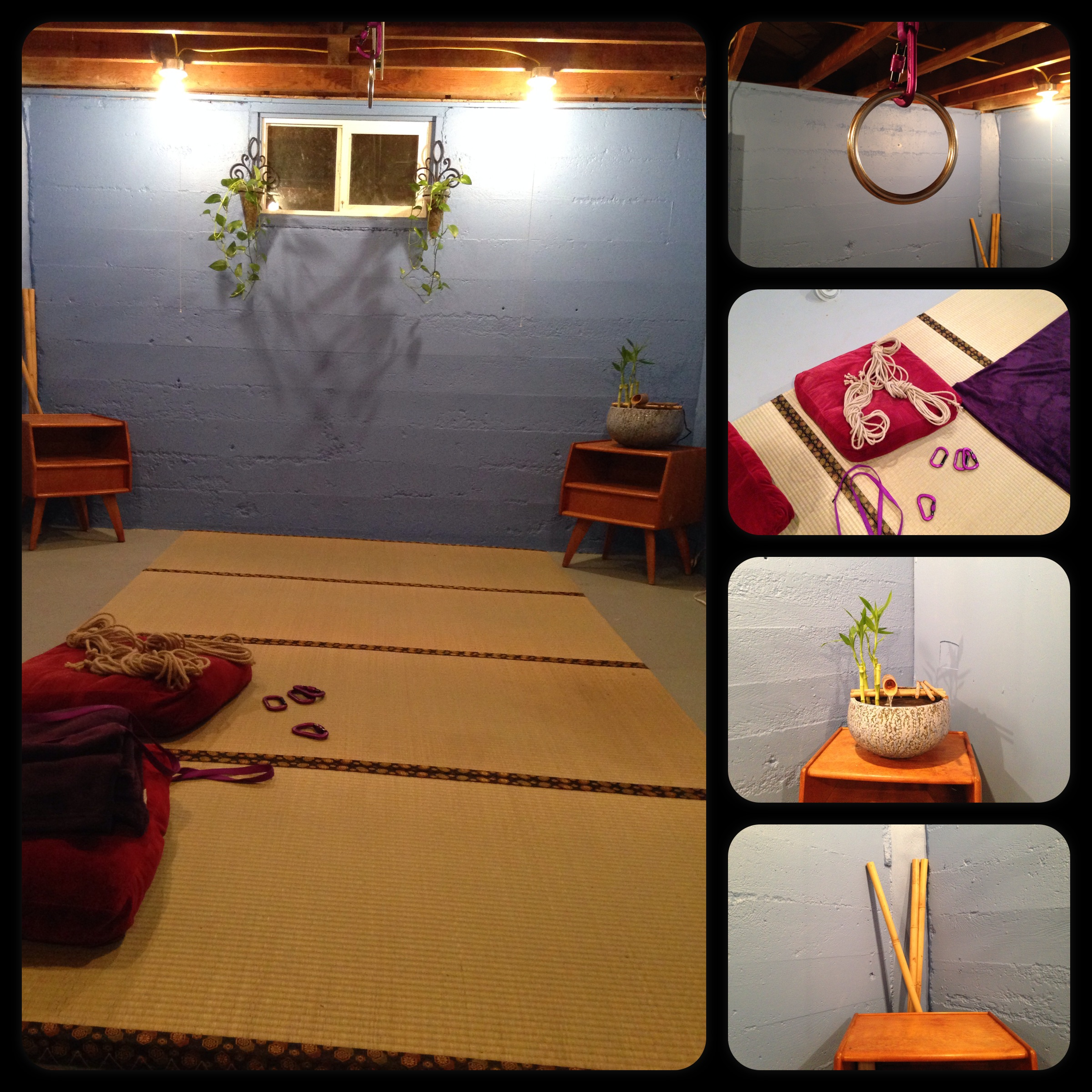 Rope practice space.
